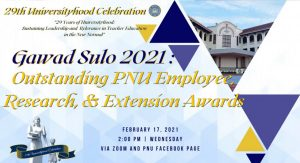RCTQ recognized at PNU Gawad Sulo 2021 awards
