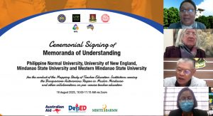 4 universities undertake ceremonial signing of MOUs for mapping study of Mindanao TEIs
