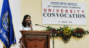 RCTQ Director speaks at the PNU Convocation