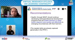 RCTQ featured at DepEd virtual research dissemination forum