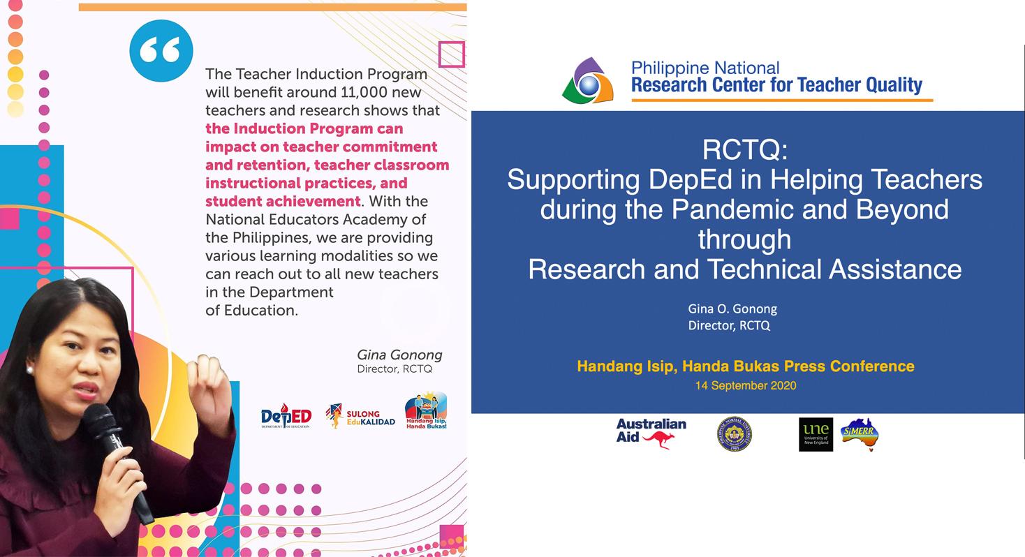 PNU, RCTQ featured on DepEd's 'Handang Isip, Handa Bukas' media briefing