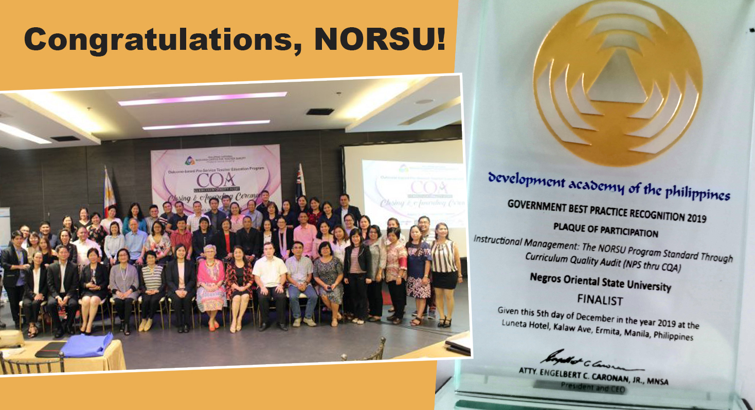Congratulations, Negros Oriental State University!