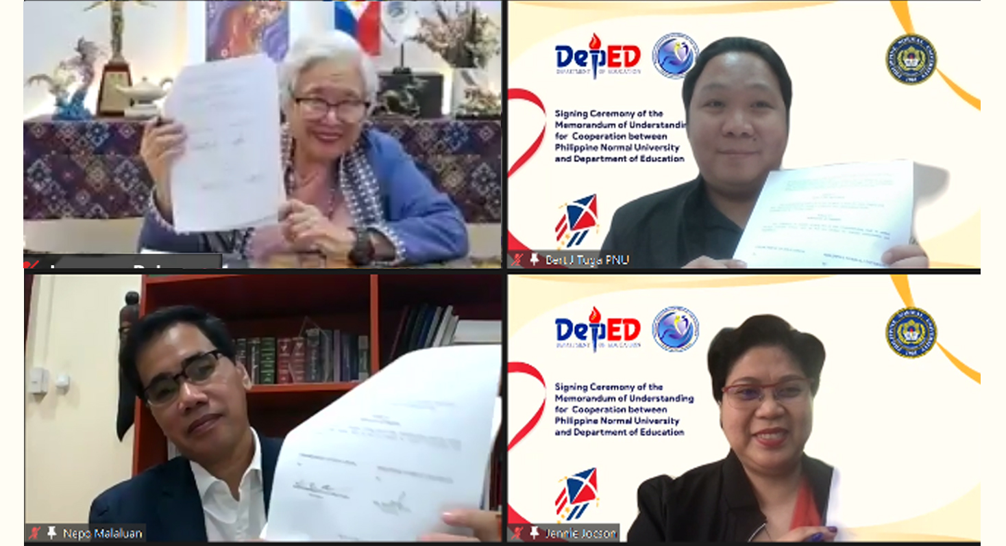 RCTQ joins in virtual signing ceremony for DepEd-PNU MOU to support teachers, school leaders