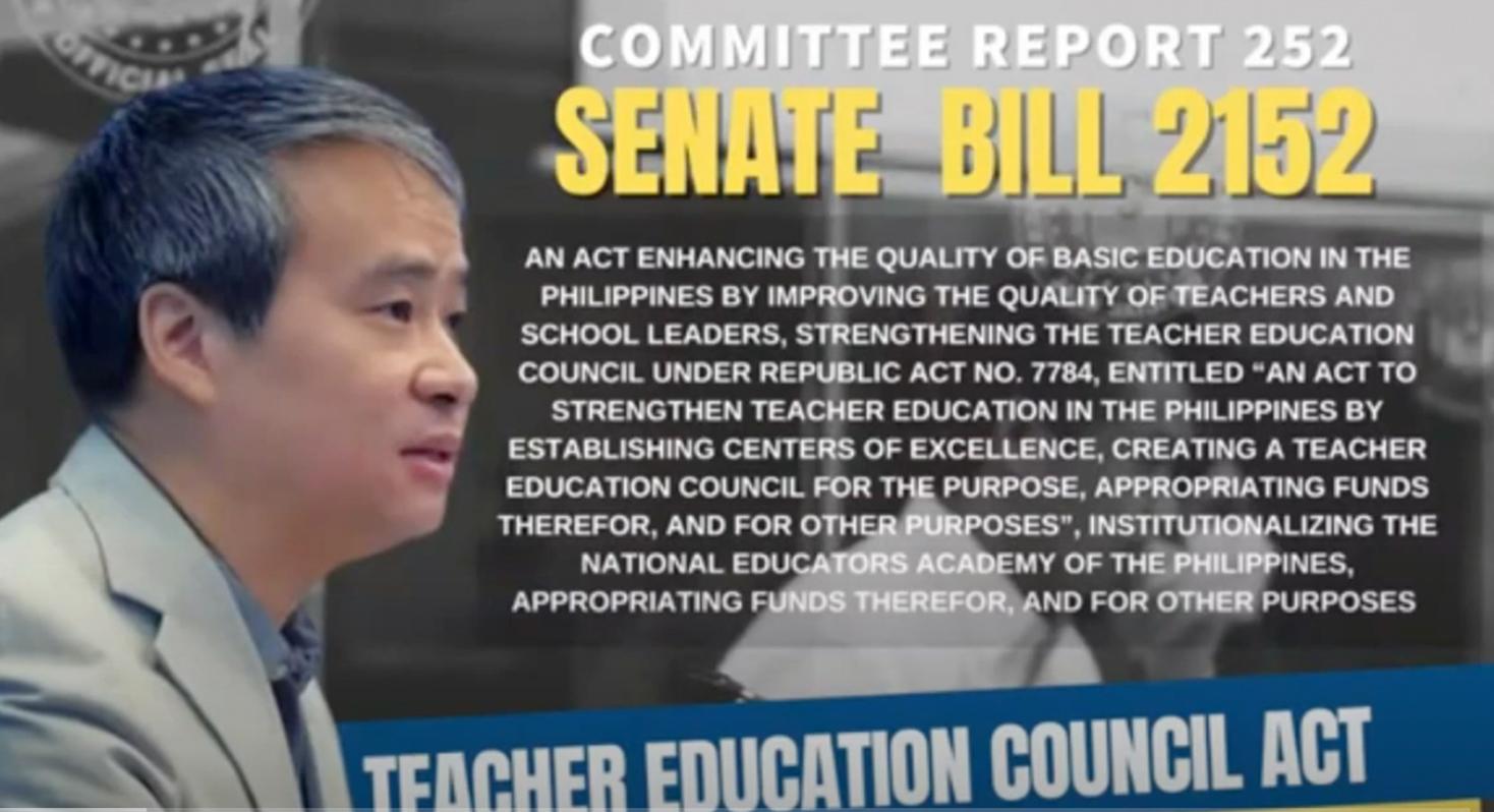 Sen. Villanueva: It is a grave necessity to strengthen the Teacher Education Council